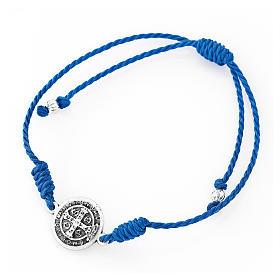 Saint Benedict AMEN blue bracelet s2