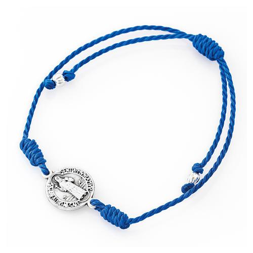 Saint Benedict AMEN blue bracelet 1