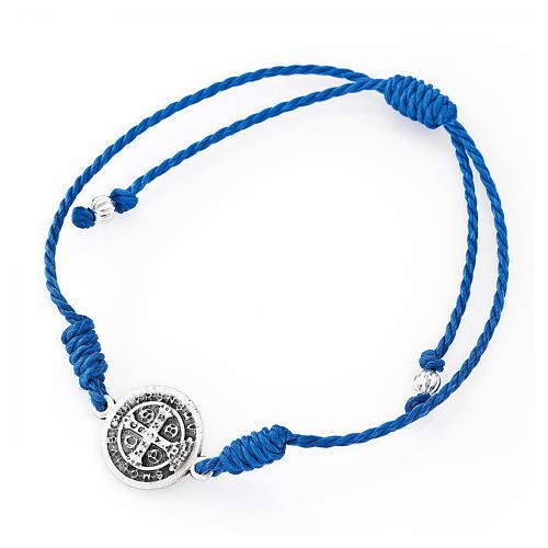 Saint Benedict AMEN blue bracelet 2