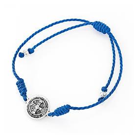 Bracciale rosario AMEN Junior perle di vetro blu argento 925 s2
