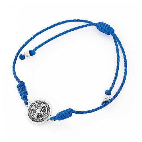 Bracciale rosario AMEN Junior perle di vetro blu argento 925 2