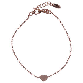 AMEN bracelets: AMEN Bracelet Heart silver 925 Rosè finish