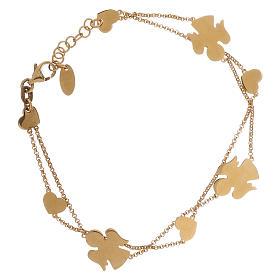 Bracelet AMEN Anges et coeurs argent 925 fin. or s2