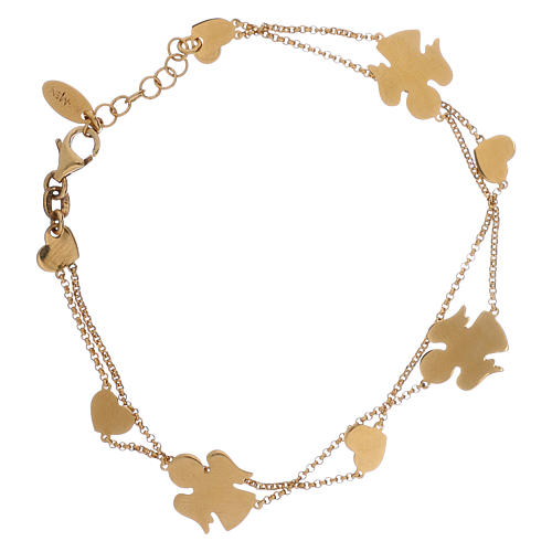 Bracelet AMEN Anges et coeurs argent 925 fin. or 1