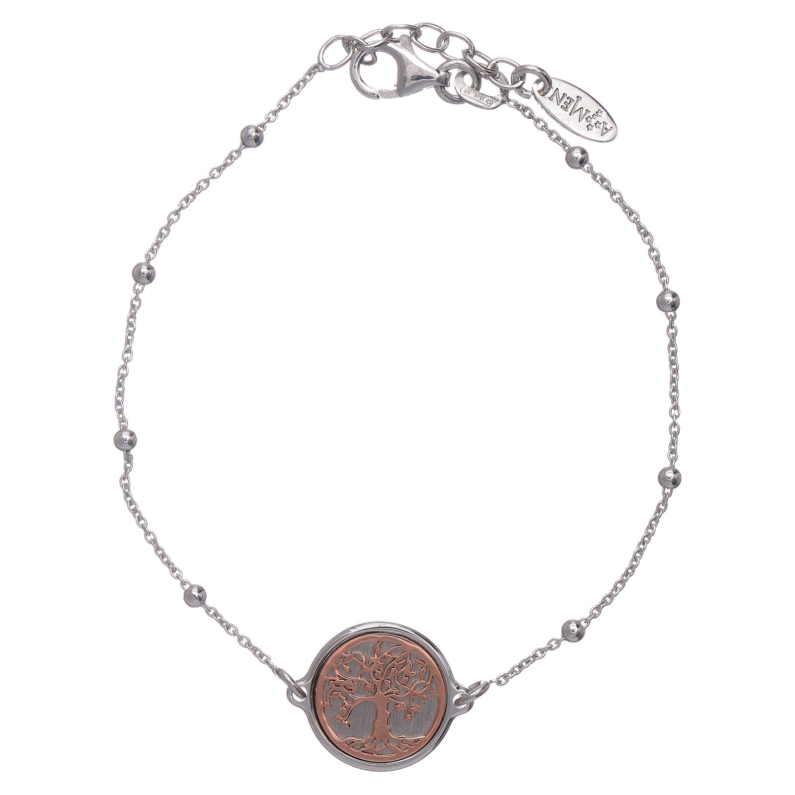 AMEN Tree of Life bracelet 925 sterling silver rhodium plated and rosè 4