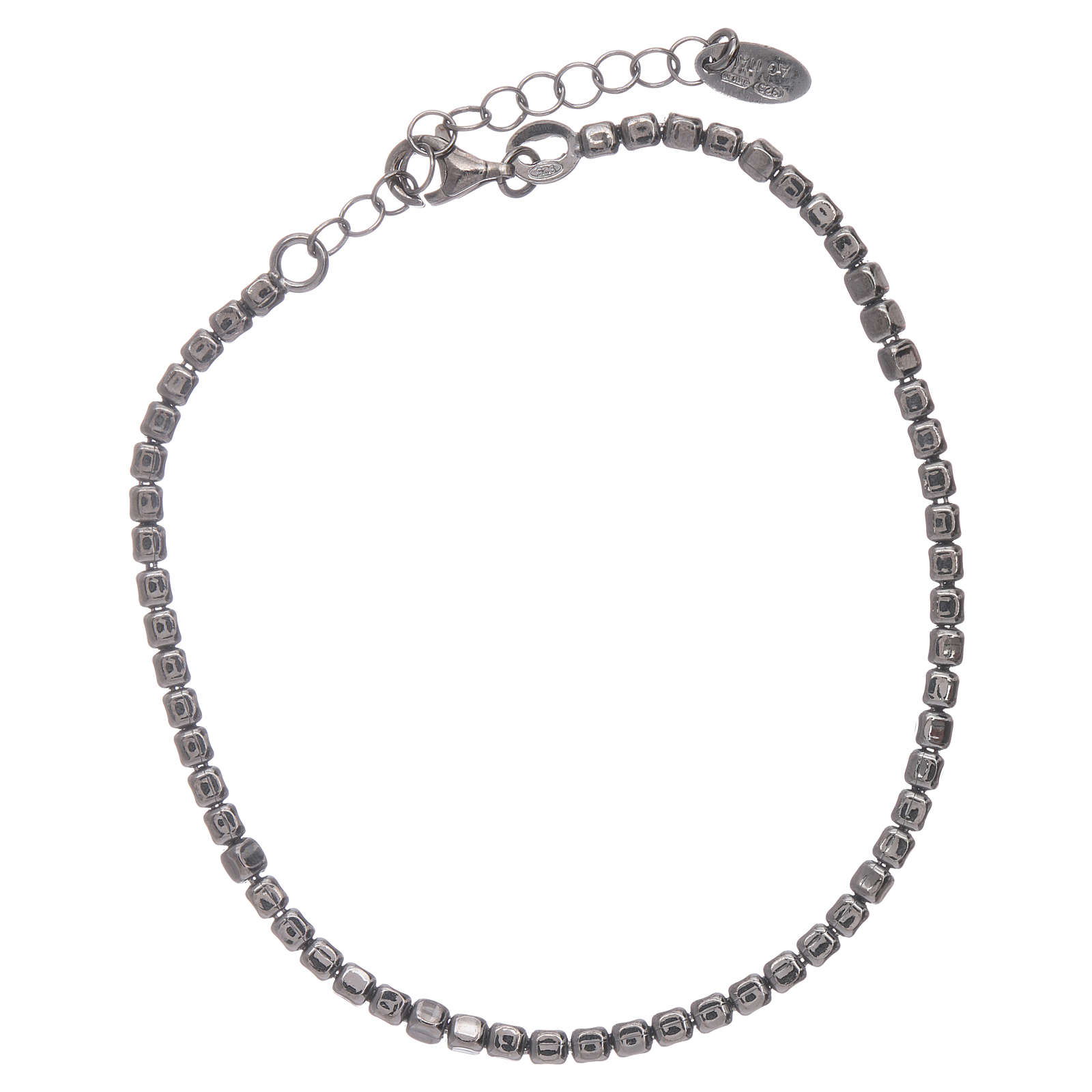 Bracelet AMEN en argent 925 rhodié noir 4