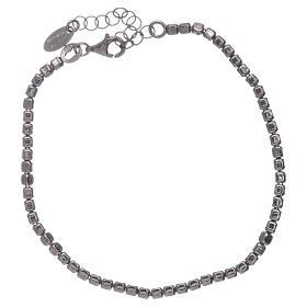 Bracelet AMEN en argent 925 rhodié noir s2