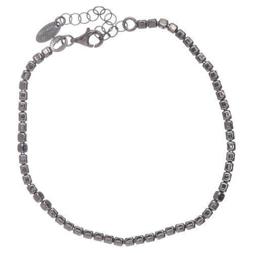 Bracelet AMEN en argent 925 rhodié noir 2