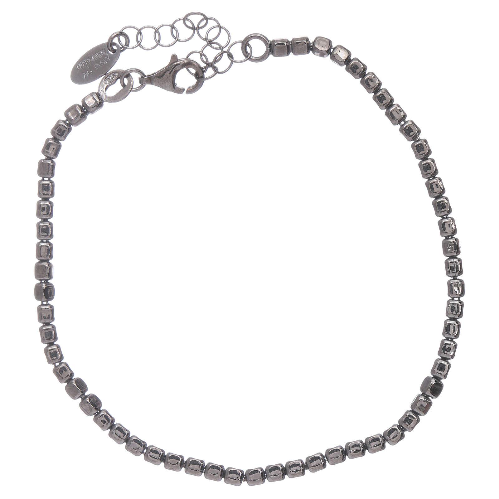 Bracciale AMEN in argento 925 rodiato nero 4