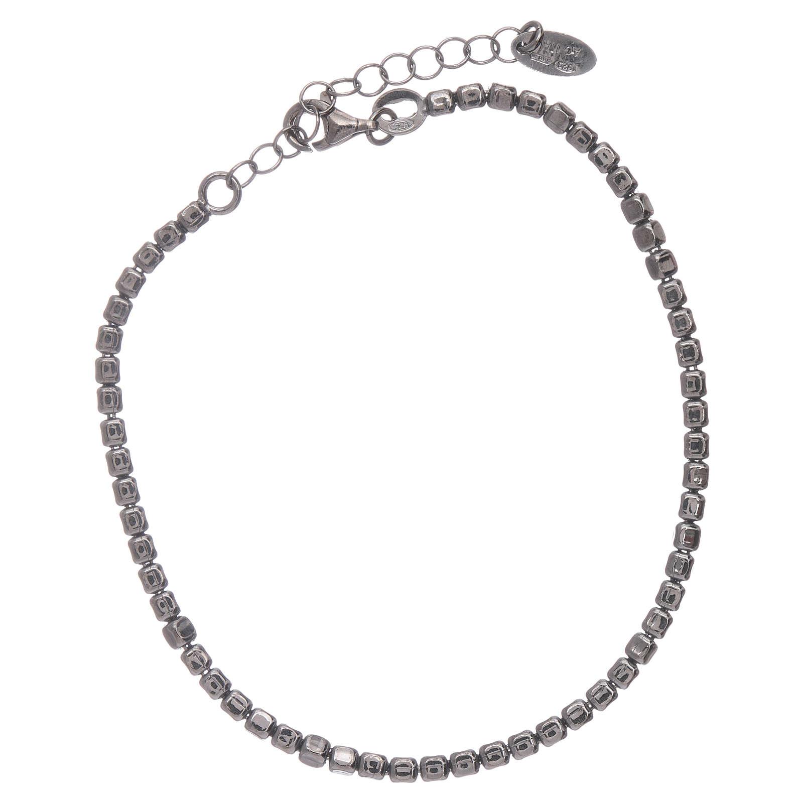 Pulseira AMEN en prata 925 radiada preto 4