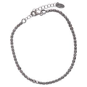 Pulseira AMEN en prata 925 radiada preto s1