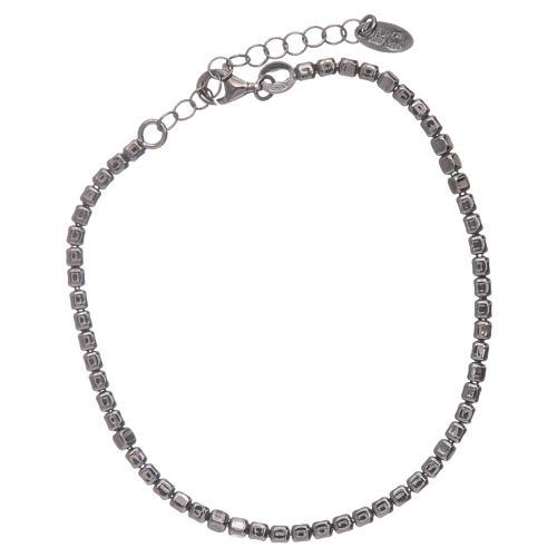 Pulseira AMEN en prata 925 radiada preto 1