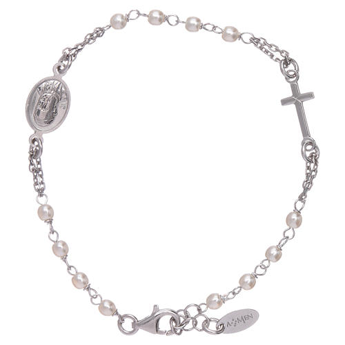 Pulsera AMEN rosario Jubileo perlas Swarovski y plata 925 1