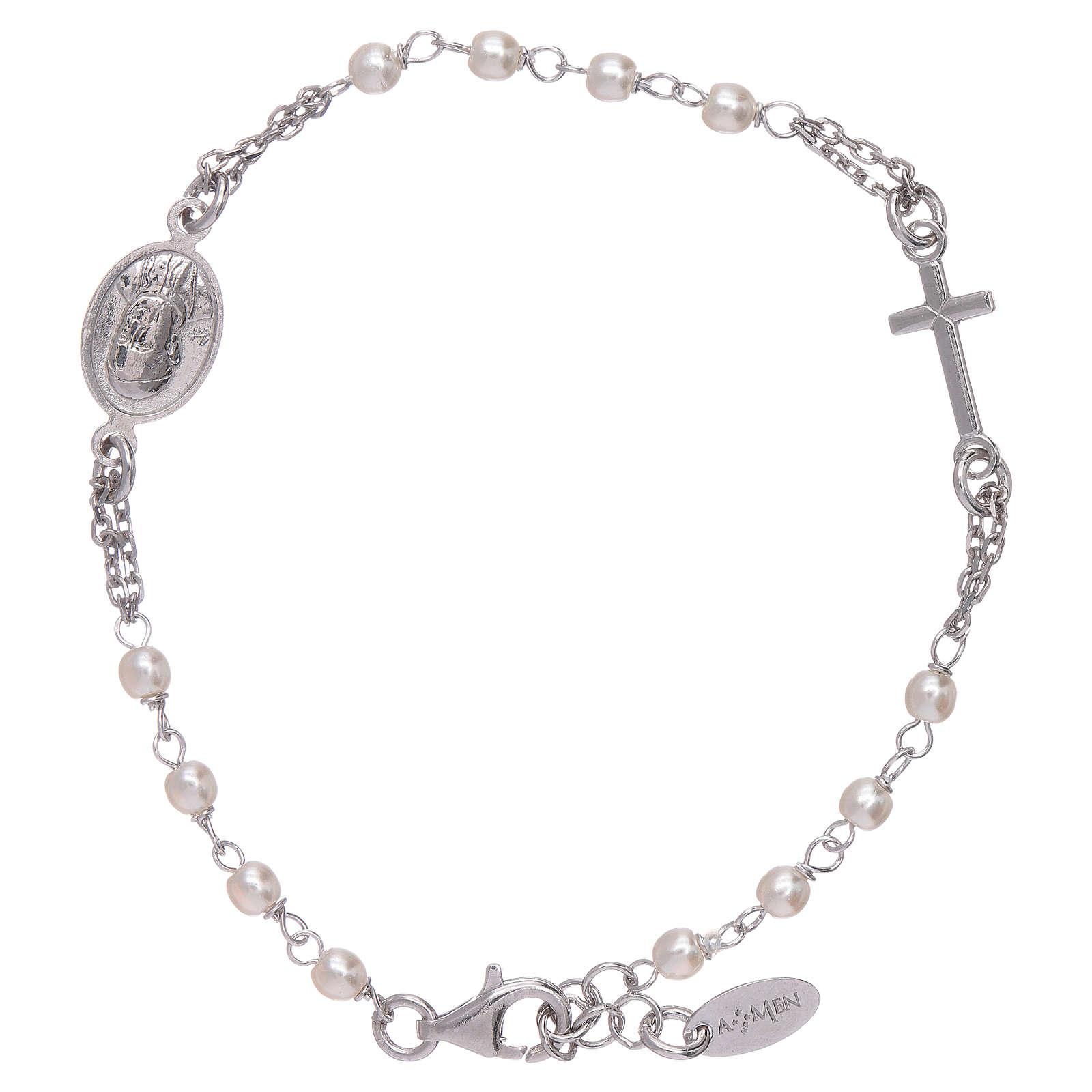 Bracelet AMEN Jubilé perles Swarovski et argent 925 4