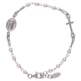 Bransoletka Amen różaniec Jubileusz perełki Swarovski i srebro 925 s1