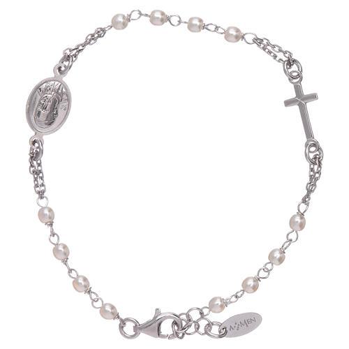 Bransoletka Amen różaniec Jubileusz perełki Swarovski i srebro 925 1