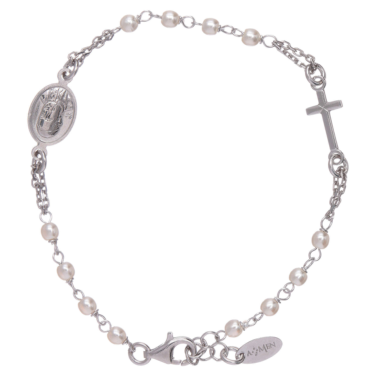AMEN Jubilee rosary bracelet Swarovski beads and 925 sterling silver 4