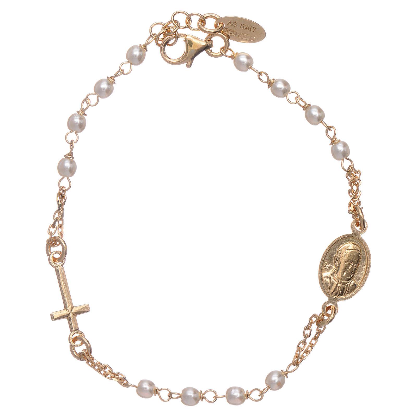 Bracciale AMEN rosario Giubileo argento 925 oro e perle Swarovski 4