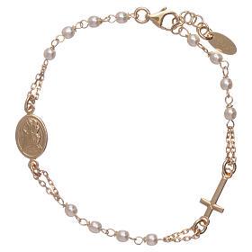 Bracciale AMEN rosario Giubileo argento 925 oro e perle Swarovski s2
