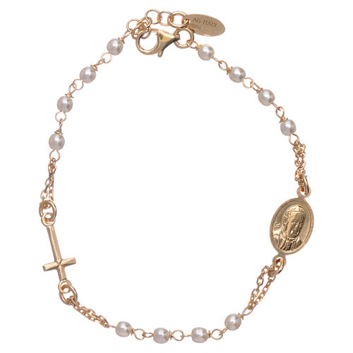 Bracciale AMEN rosario Giubileo argento 925 oro e perle Swarovski 1