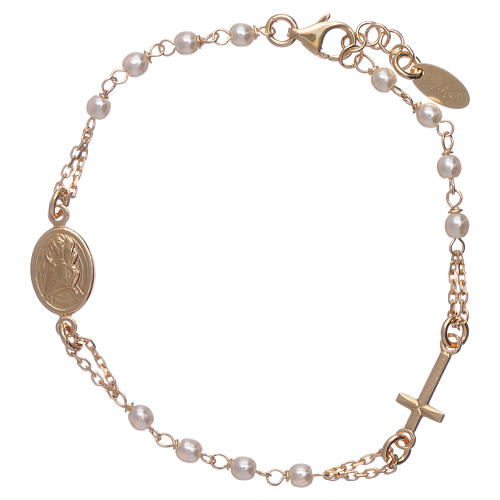 Bracciale AMEN rosario Giubileo argento 925 oro e perle Swarovski 2
