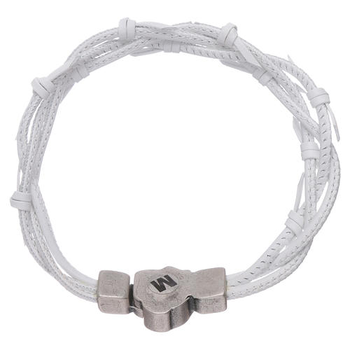 AMEN woven leather Passion symbol bracelet 2