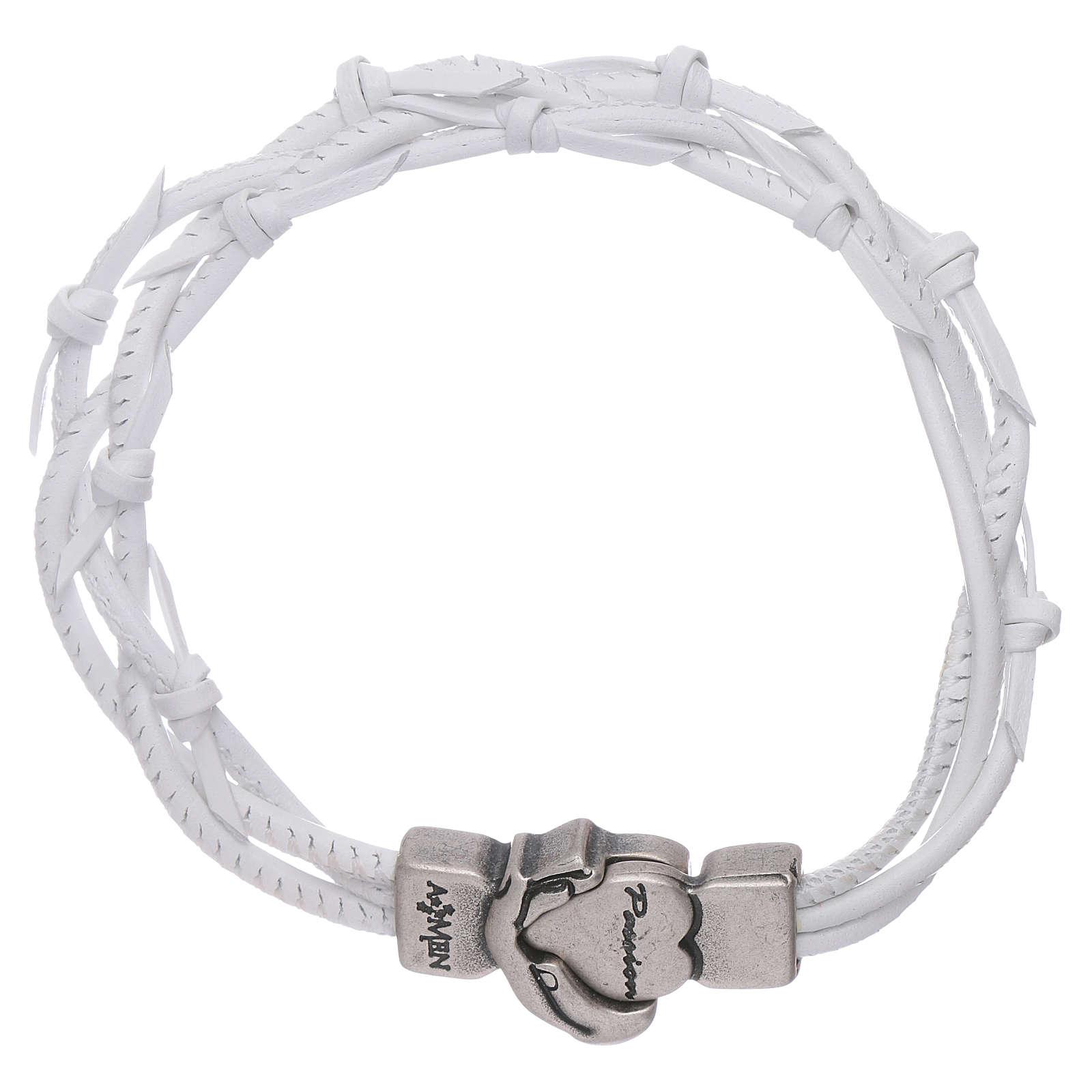 Bracelet AMEN cuir tressé symbole de la Passion 4