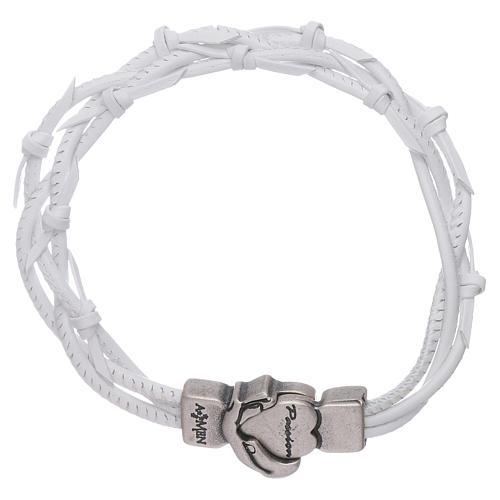 Bracelet AMEN cuir tressé symbole de la Passion 1
