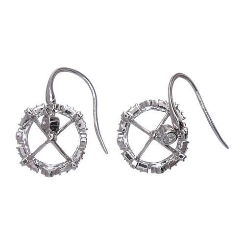 Orecchini pendenti AMEN corona argento 925 e zirconi bianchi 3