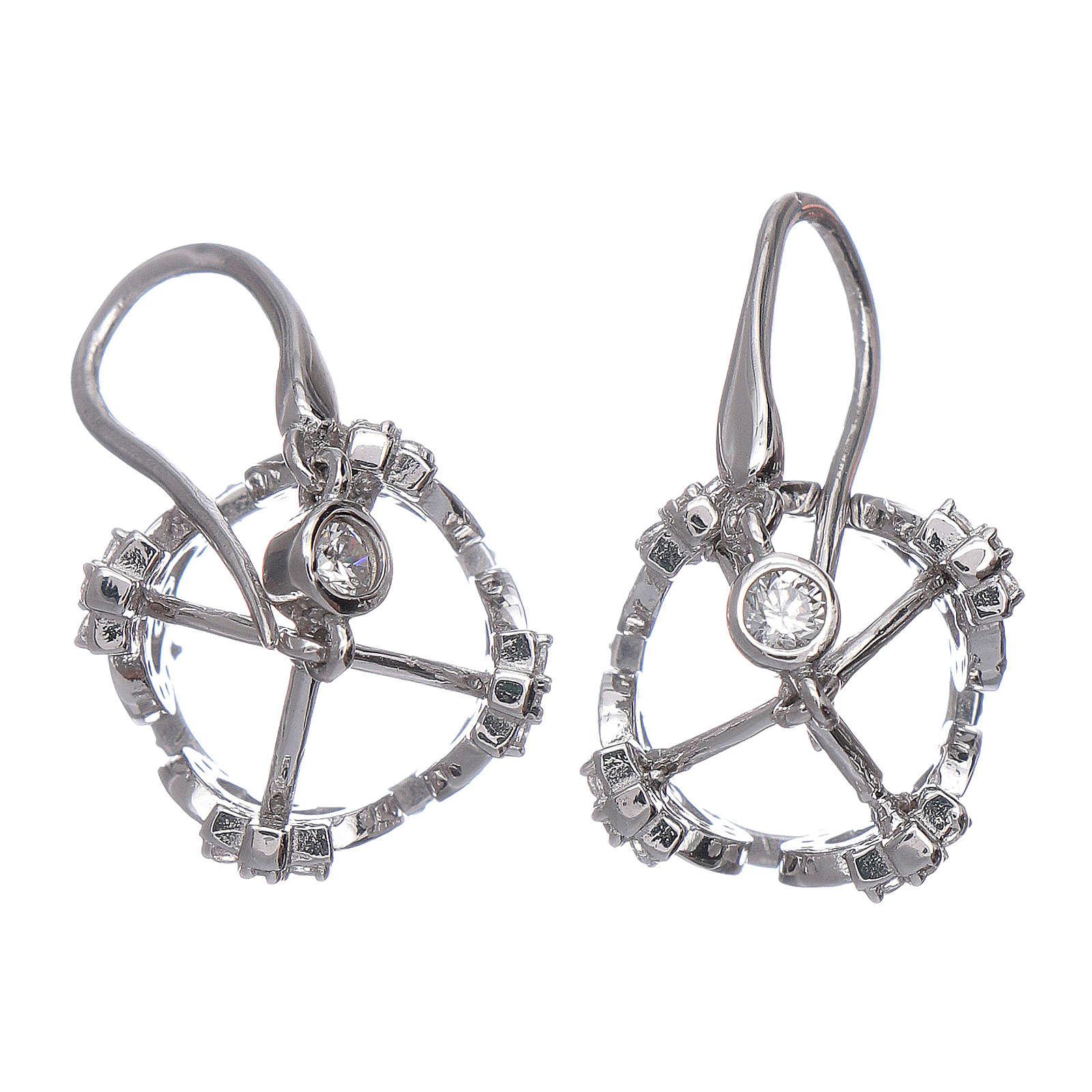 Orecchini AMEN pendenti a corona argento 925 zirconi bianchi 4