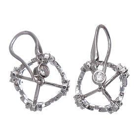 Orecchini AMEN pendenti a corona argento 925 zirconi bianchi s3