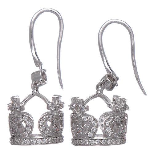 Orecchini AMEN pendenti a corona argento 925 zirconi bianchi 2