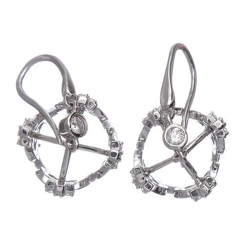 Orecchini AMEN pendenti a corona argento 925 zirconi bianchi 3