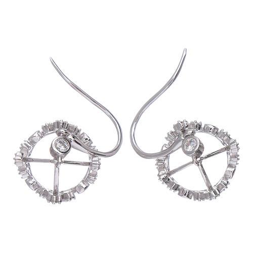 Pendientes colgantes AMEN con corona plata 925 zircones blancos 3