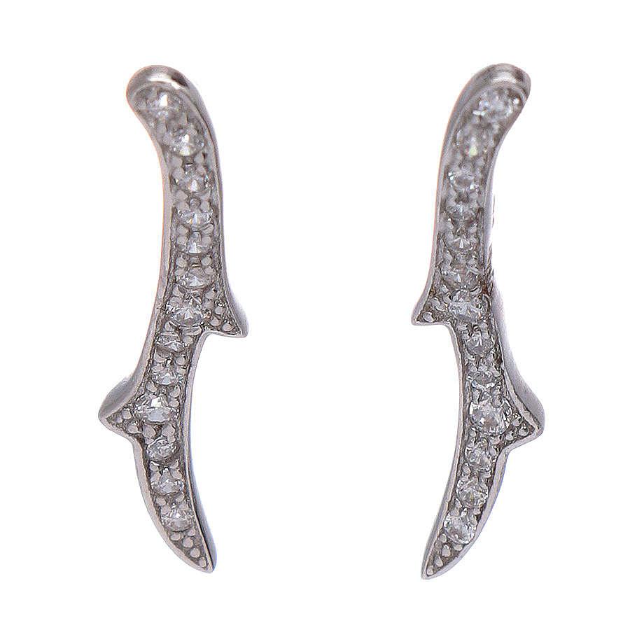 Orecchini AMEN spine zirconi argento 925 rodio 4