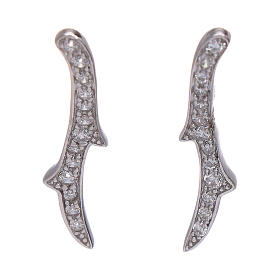 Orecchini AMEN spine zirconi argento 925 rodio s1