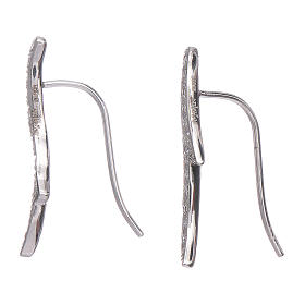 Orecchini AMEN spine zirconi argento 925 rodio s2