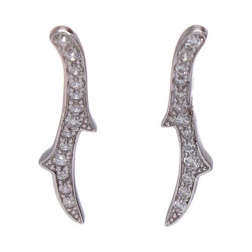Orecchini AMEN ali d'angelo argento 925 rodio 1