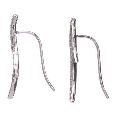 Orecchini AMEN spine zirconi argento 925 rodio 2