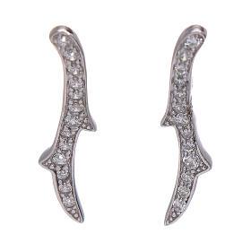 Pingentes, Cruzes, Broches, Correntes: Brincos AMEN espinho prata 925 ródio