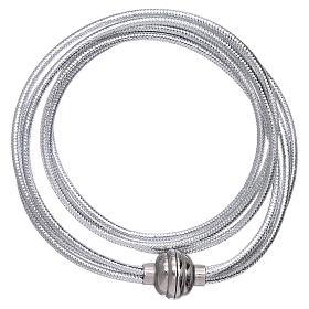AMEN bracelets: AMEN lurex rhodium colour bracelet 36 cm