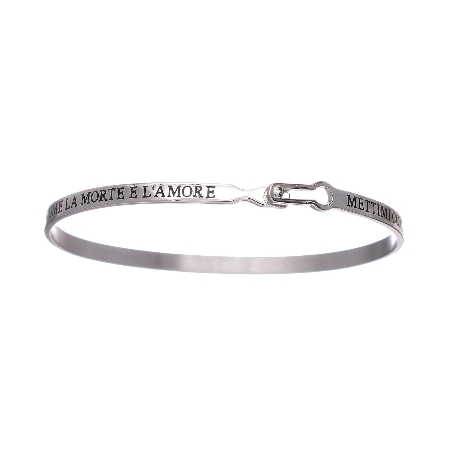 AMEN 925 sterling silver slave bracelet with writings 4