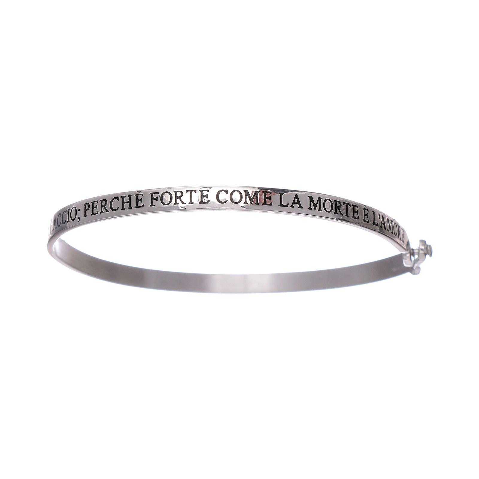 Bracelet AMEN esclave avec inscriptions argent 925 4
