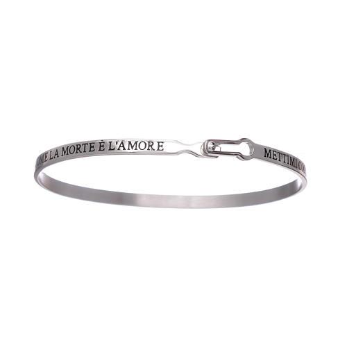 Bracelet AMEN esclave avec inscriptions argent 925 3