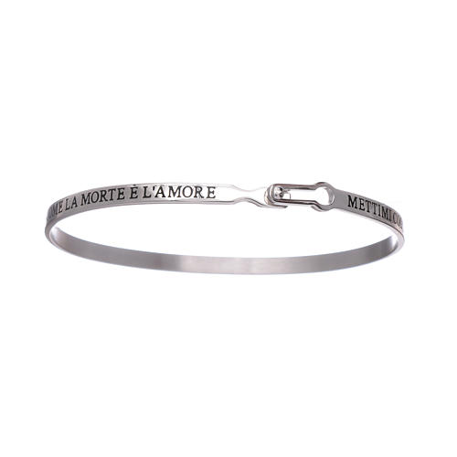 AMEN 925 sterling silver slave bracelet with writings 3