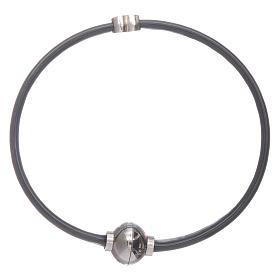 AMEN bracelets: AMEN 925 sterling silver thermoplastic bracelet with a zirconate  heart