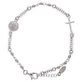Pulsera rosario AMEN San Benito plata 925 rodio s1