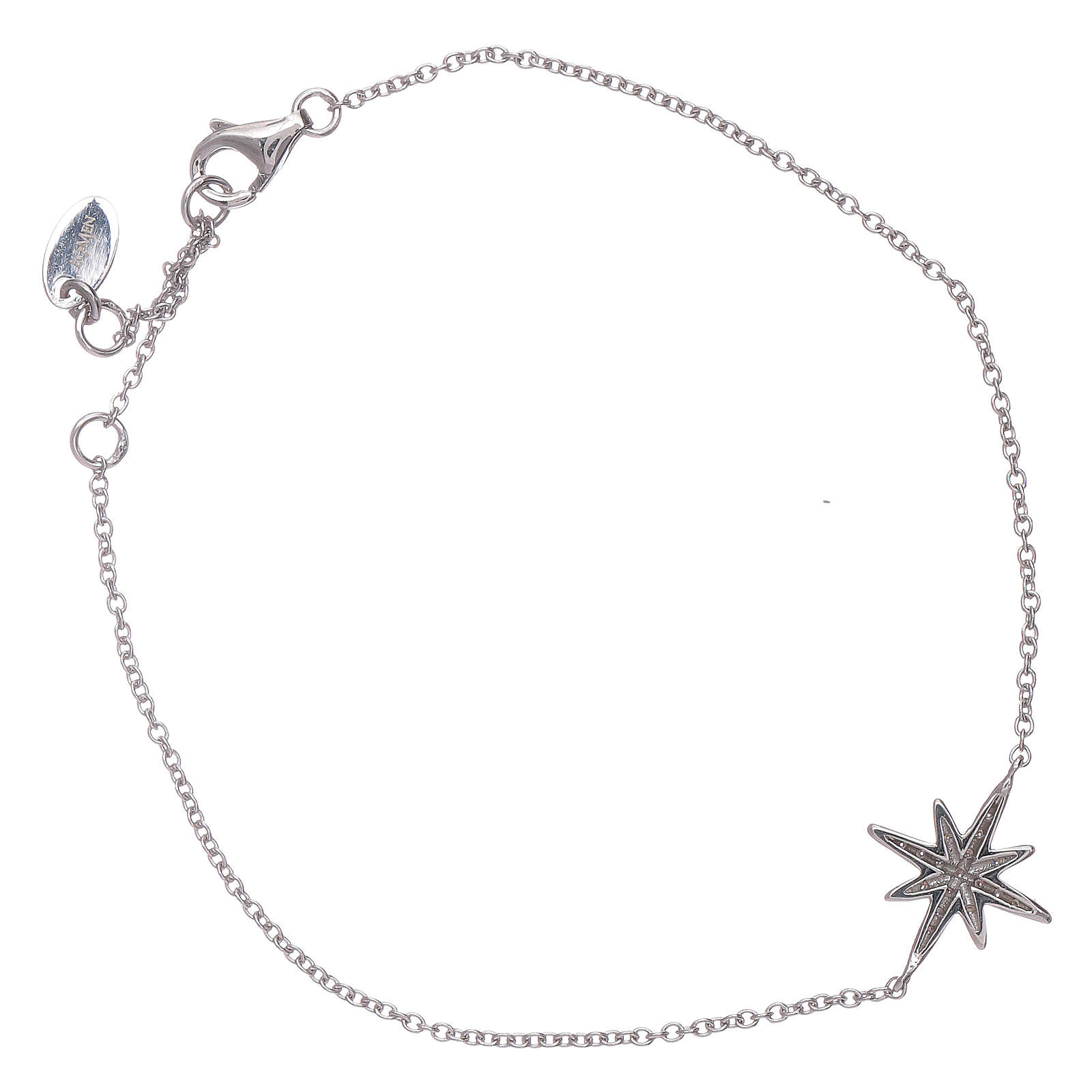 AMEN 925 sterlin silver bracelet with zircon wind rose 4