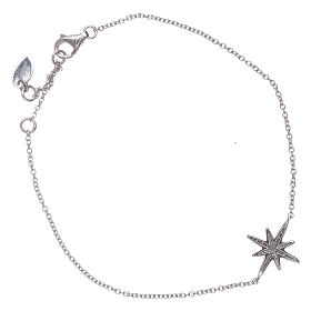 AMEN 925 sterlin silver bracelet with zircon wind rose s2