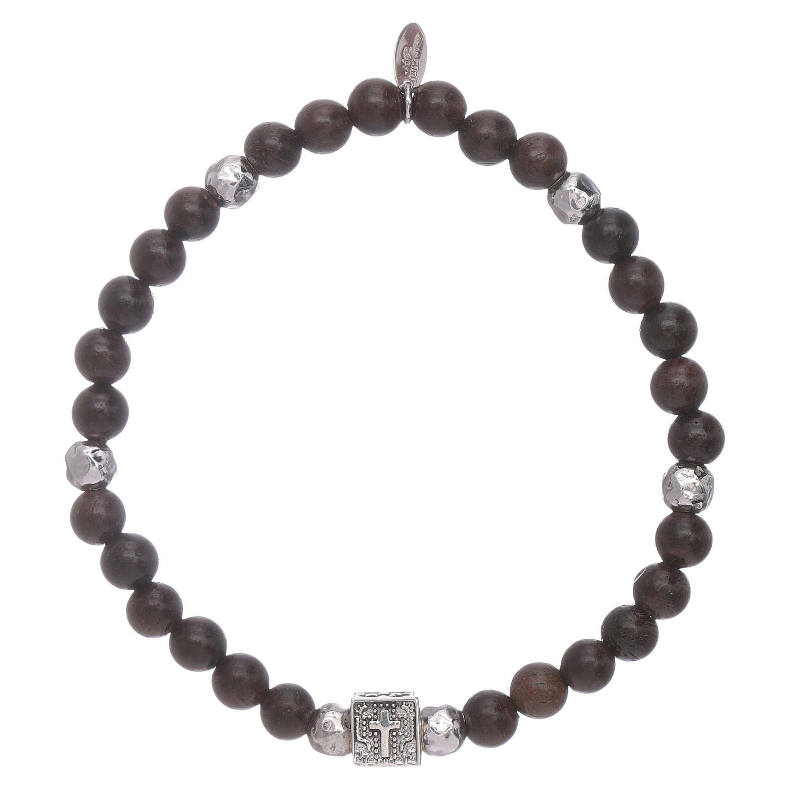 Bracelet AMEN argent 925 et ébène Foi, Espoir et Charité 4